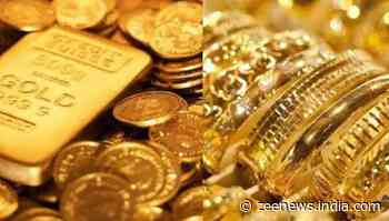Gold price falls down to reach Rs 46,505, silver falls Rs 206