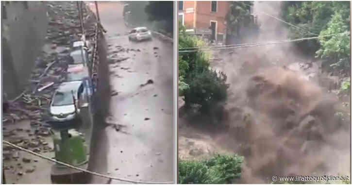 Maltempo a Como, esondano i torrenti nei centri abitati: frane sulla statale Regina e frazioni evacuate – Video