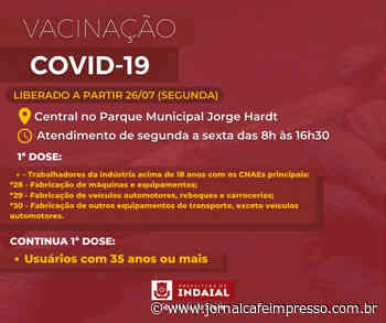 Indaial abre vacinação contra a Covid-19 para novos grupos de trabalhadores da indústria - Jornal Café Impresso