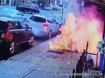 Man survives New York sidewalk explosion