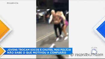 Flagrante mostra pancadaria em posto no Rio de Janeiro - Record TV