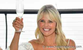 Christie Brinkley wows in head-to-toe white for celebratory reason
