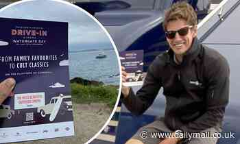 Tom Cruise lookalike greets man who paddled out to deliver Top Gun screening invite