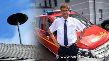 """Kreis Soest: Katastrophen-Warnungen - Kreisbrandmeister Thomas Wienecke: """"Es ist schwierig, einen Volltreff... - soester-anzeiger.de"""