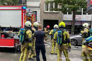 Brand in voormalige pastelaria in Antwerpen