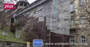 Die Römermauer in Wiesbaden bekommt einen Witterungsschutz