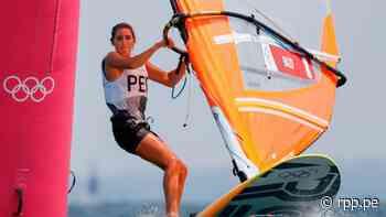 María Belén Bazo finalizó en quinto lugar en la carrera 6 de Windsurf RS:X de Tokio 2020 - La10