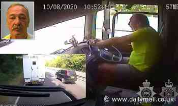 Lorry driver jailed after crashing into van on A27 while using his mobile phone [Video]