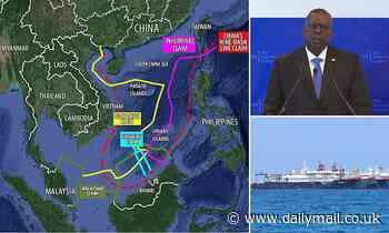Defense chief Lloyd Austin says China's claim to South China Sea has no basis in international law