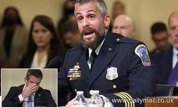 Capitol cop Michael Fanone slams table at Jan 6 hearing