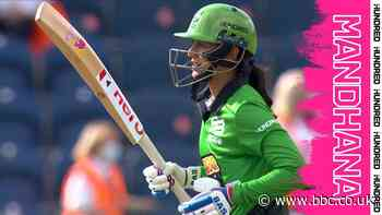 The Hundred - Welsh Fire v Southern Brave: Smriti Mandhana's best shots as she powers Brave to win