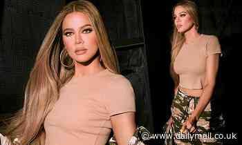 Khloé Kardashian flashes her toned tummy in new collection for Good American...after reveals regrets