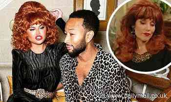 Chrissy Teigen transforms into Peggy Bundy to recreate the hit show Married ... With Children