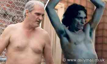 Joaquin Phoenix unveils grey hair and pot belly as he transforms his body yet again for new role