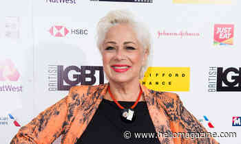 Denise Welch looks stunning in beautiful sequined gown with close friend