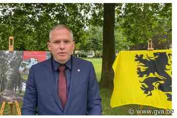 Ophef over zwarte Vlaamse Leeuw achter minister Diependaele (N-VA) in Wortel-Kolonie - Gazet van Antwerpen