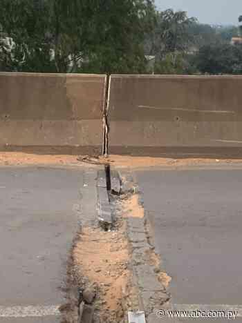 Grieta en viaducto de Limpio genera preocupación - Nacionales - ABC Color