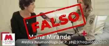 Son falsas varias afirmaciones sobre el coronavirus de la neumonóloga Mirande en una entrevista televisiva (parte I) - Chequeado
