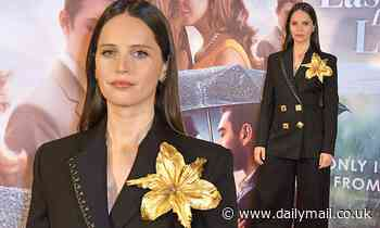 Felicity Jones oozes glamour at The Last Letter From Your Lover premiere