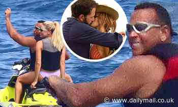 ARod puts on a show with pretty blonde NFL presenter on his 46th birthday in St. Tropez