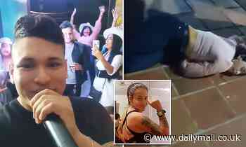 Woman survives after losing balance while dancing and falling through a window in Colombia