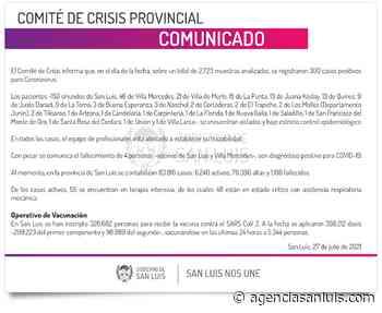 Son 300 los casos de Coronavirus registrados este martes - Agencia de Noticias San Luis
