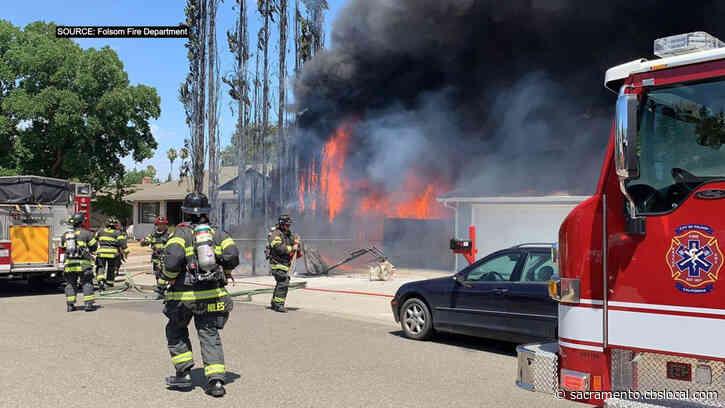Crews Battling Fire At Folsom House On Perraud Court