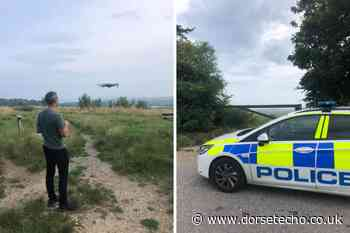 Police hunt motorbike riders at Teddybear Woods, Weymouth - Dorset Echo