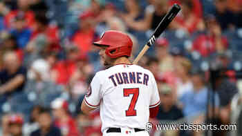 Nationals shortstop and trade candidate Trea Turner leaves Tuesday's game after testing positive for COVID-19