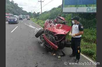 Pareja muere en accidente de tránsito en la ruta al Pacífico - Soy502