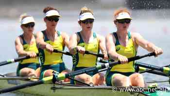 Live: Australia holds on to win gold in the women's four rowing over the Netherlands