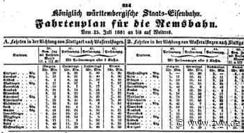 Als die Touristen erstmals auf dem Schienenweg zum Kloster Lorch kamen - Welzheim - Zeitungsverlag Waiblingen