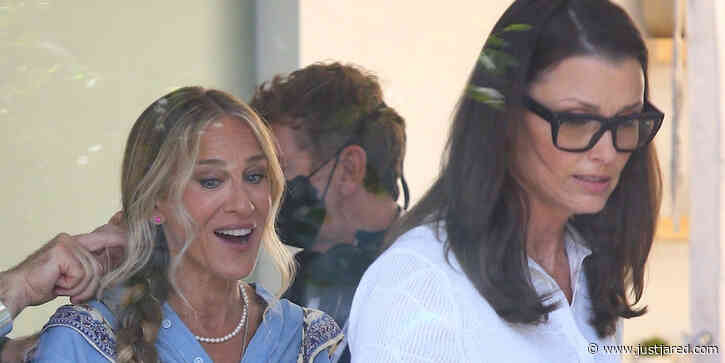 Sarah Jessica Parker Films With Bridget Moynahan on 'And Just Like That' in NYC