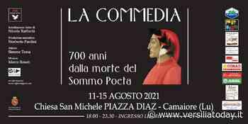 """""""La Commedia"""", a Camaiore l'installazione video dedicata a Dante dell'artista Nicola Raffaetà - Versiliatoday.it"""
