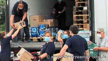 Feuerwehr Neusatz-Rotensol - Spenden erreichen (fast) ihr Ziel im Hochwassergebiet - Schwarzwälder Bote