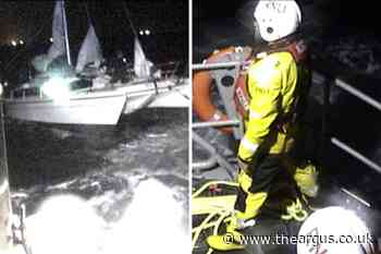 Sailors battered in thunderstorm rescued by Selsey Lifeboats