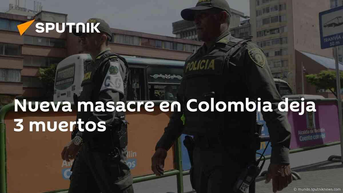 Nueva masacre en Colombia deja 3 muertos - 27.07.2021 - Sputnik Mundo