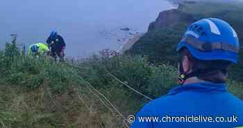 Man rescued after slipping on Sunderland cliff and and injuring himself