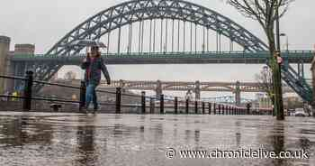 Hour by hour forecast after heavy rain hits the North East