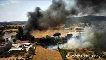 Incendio a Fiano Romano, bruciano sterpaglie e negozio di termoidraulica: fumo nero tra i palazzi