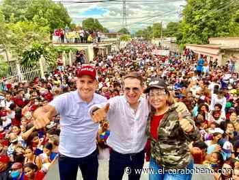Militantes del chavismo acompañaron a Lacava ya Castañeda en Guacara - El Carabobeño