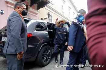 Leftist political novice to be sworn in as Peru's president