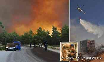 Arsonists spark a massive forest fire in Southern Turkey that caused 500 people to lose their homes