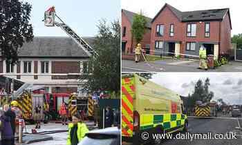 Britain faces more flash flood misery: Lightning strike sparks major blaze at hospital