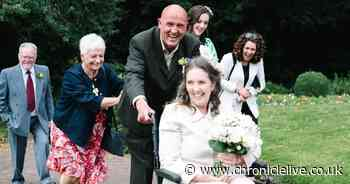 Prudhoe mum with terminal cancer celebrates first wedding anniversary