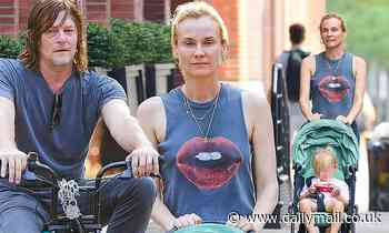 Diane Kruger enjoys family time Norman Reedus and daughter, two