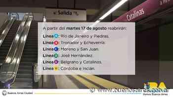 El 17 de agosto reabrirán 11 estaciones | Noticias - buenosaires.gob.ar