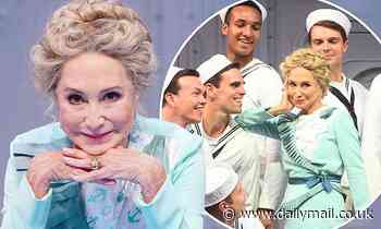 Felicity Kendal, 74, displays her flawless complexion as she makes stage comeback in Anything Goes