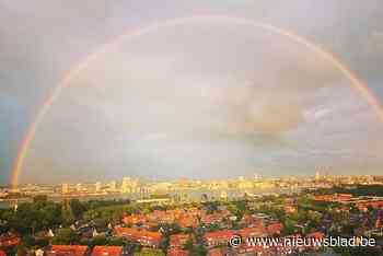 Schitterende beelden van dubbele regenboog boven Antwerpen