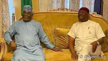 Former VP, Atiku Abubakar meets with Gov Wike in Port Harcourt - Daily Post Nigeria